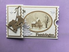 Mini Scrapbook Albums, Mini Albums, Xmas Cards, Holiday Cards, Ticket Card, Scrapbooking, Shaped Cards, Marianne Design, Winter Cards