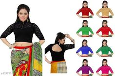 Checkout this latest Blouses Product Name: *Beautiful Women's Blouse* Fabric: Cotton Lycra  Sleeves: Sleeves are Included Size: Up To 28 in To 36 in (Free Size ) Type: Stitched Description: It Has 1 Piece Of Blouse   Work : Net Country of Origin: India Easy Returns Available In Case Of Any Issue   Catalog Rating: ★4.2 (383)  Catalog Name: Free Gift Stylish Designer Womens Readymade Blouse Vol 2 CatalogID_83585 C74-SC1007 Code: 892-737770-015