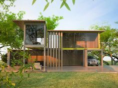 Next Container - Palermo 90 door Next Container Container Van House, Sea Container Homes, Building A Container Home, Container House Design, Prefab Homes, Modular Homes, Container Architecture, Architecture Design, Palermo