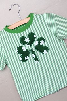 Upcycled Boys Shamrock Shirt 3t with FREE by PhunkyPhashionsWendy, $10.99