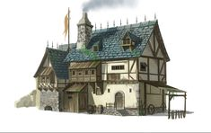 Medieval House Guo Dan Medieval houses Building concept Building