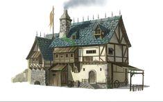 ArtStation - Medieval House, Guo Dan