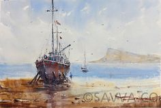 I always curry my painting kit with me, this category contains watercolour work created during my stay in Cyprus. Art Pictures, Art Pics, Sailing Ships, Painting & Drawing, Steamboats, Drawings, Watercolors, Artwork, Artist