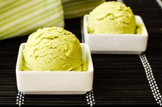 This dairy-free green tea ice cream has just 5 inexpensive ingredients & the perfect pop of creamy, sweet, green tea flavor! Gluten-free, nut-free option.