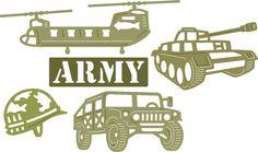 Cheery Lynn Designs - Army (Set of 5) - B513, $14.95 (http://www.cheerylynndesigns.com/army-set-of-5-b513/)