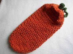 Cocoon, Hooded, Bunting, Pumpkin , Newborn, Halloween Costume, Photography Prop on Etsy, $38.00
