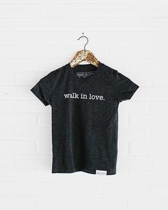 Don't forget about the little Valentine's in your life! Youth sized tees available! / Link in profile! #walkinlove
