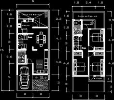 Excellent simple ideas for your inspiration Narrow House Plans, Duplex House Plans, Modern House Plans, House Floor Plans, Home Room Design, Small House Design, Home Design Plans, Modern House Design, Indian House Plans
