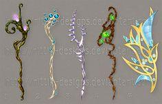 Staffs and amulet by Rittik-Designs on deviantART