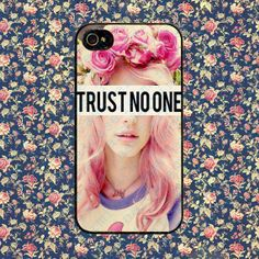 Girls Trust No One Quote for iPhone 4, iPhone 4s, iPhone 5 /5s/5c, Samsung Galaxy S3, Samsung Galaxy S4 Case