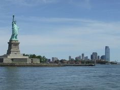 Statue of Liberty --- An awesome view with Jersey City in the background
