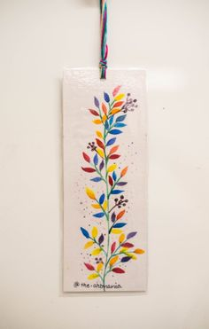 Handmade Bookmark with quotes Handmade original artwork Watercolor background bookmarks Rainbow Leaves Bookmark Bookmarks Quotes, Paper Bookmarks, Watercolor Bookmarks, Watercolor Cards, Watercolor Background, Art N Craft, Diy Art, Homemade Bookmarks, Bookmark Craft