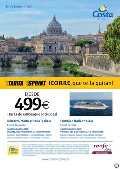 Costa Cruceros - Salidas desde Barcelona a partir de 499 Euros (Tasas de embarque incluidas) ultimo minuto - http://zocotours.com/costa-cruceros-salidas-desde-barcelona-a-partir-de-499-euros-tasas-de-embarque-incluidas-ultimo-minuto/