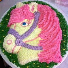 Torta caballo rosa