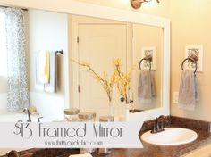 DIY Framed Mirror and Framed Hand Towel Holder