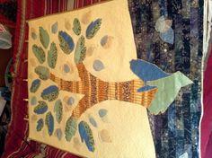 Family tree art quilt