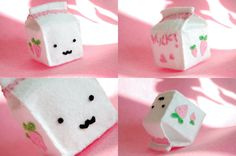 strawberry milk - plushie by paperplane-products.deviantart.com on @deviantART