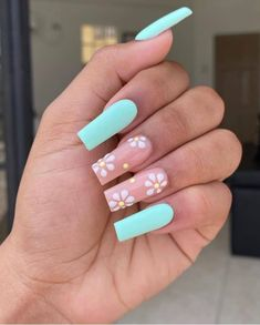 Nagellack Design, Nagellack Trends, Stylish Nails, Trendy Nails, Bright Summer Nails, Summer Stiletto Nails, Cute Summer Nails, Spring Nails, Daisy Nails