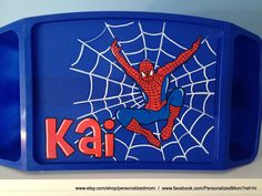 Personalized Lap desk with Spiderman!