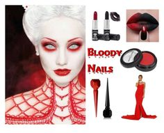 Bloody nails - Halloween Nail Art by b-whalley on Polyvore featuring beauty, Manic Panic NYC and Christian Louboutin