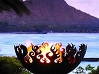 John T. Unger's fire bowls are handcrafted from recycled steel. The fire bowls are available in 14 styles and a variety of sizes, and can be equipped to burn propane or natural gas. More fire pit designs here http://www.landscapingnetwork.com/products/fire-pits/