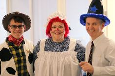 Our Finance Department all dressed up!
