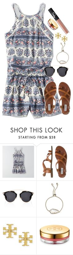 """""""day 31: happy I'm home"""" by adellee-b ❤ liked on Polyvore featuring American Eagle Outfitters, Steve Madden, Christian Dior, Kendra Scott, Tory Burch and NARS Cosmetics"""