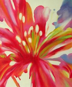 Lily Blossom ~ Oil on Canvas Wall Art Reproduction ~ Contemporary ...