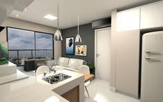 Projeto do escritório Atelier da Reforma - Render SketchUp + V_ray - Cozinha integrada
