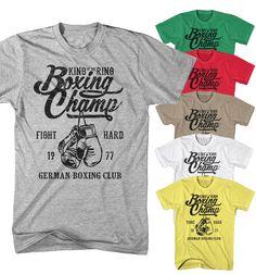 97781b0c6 Herren T-Shirt King of Ring German Boxing Club Boxen Fight Sport Neu BC7118
