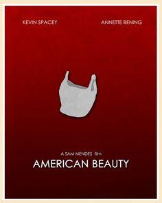 American Beauty (1999) - Minimal Movie Poster by Jon Glanville ~ #jonglanville #minimalmovieposters #alternativemovieposters