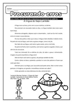 Ortografia - trabalhando texto EM PDF | Atividades Pedagogica Suzano Improve Your English, Learn English, 2nd Grade Reading Comprehension, Family Law Attorney, School Routines, Listening Skills, Movie Guide, Learning Centers, English Vocabulary