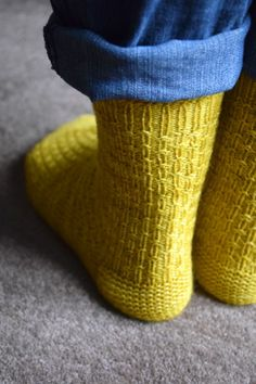 Reasons to be Cheerful socks by Rachel Atkinson