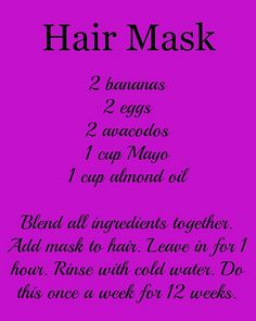 Hair Growth Mask #Recipe- Thicker, Longer Hair in 12 weeks! ...Plus other ways…