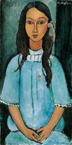 Portrait by Amadeo Modigliani (1884-1920), ca. 1918, Alice, Oil on canvas.