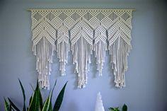 Colgante de pared de macrame cuerda de algodón por BermudaDream