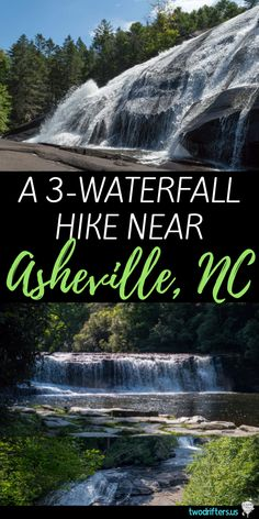 One of the Best & Easiest Waterfall Hikes Near Asheville NC Asheville, North Carolina has 60 waterfalls nearby. On this hike, one of the best waterfall hikes near Asheville, you can see 3 beautiful falls in one day! Asheville North Carolina, North Carolina Hiking, North Carolina Waterfalls, North Carolina Vacations, North Carolina Mountains, South Carolina, Beaches In North Carolina, Waynesville North Carolina, Carolina Blue