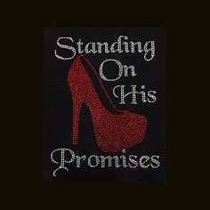 Standing On His Promises 11.25x8.75 Faith Rhinestone