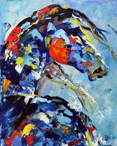 horse painting abstract - Buscar con Google