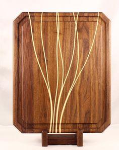 Walnut & Maple Butcher Block Cutting Board / by BlueMtnWoodworks, $185.00