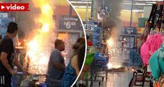 Cliente Provoca Incêndio Depois De Acender Fogo-De-Artifício Que Estava Para Venda Em Supermercado