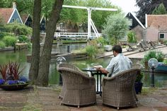 Hotel Fortuna is nestled on a canal in a garden kind of world.