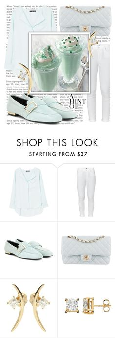 """""""Untitled #138"""" by scheherazadee ❤ liked on Polyvore featuring MANGO, Paige Denim, Roger Vivier, Chanel and Wasson Fine"""