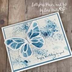 Stampin'Up! Stampinup! Brusho Crystals Beautiful Day Stamp Set with Fruit Basket Happy Birthday by Lori Pinto1