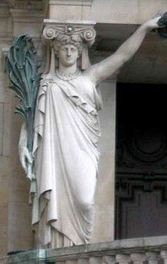Mathurin Moreau : Cariatides, opéra Garnier, Paris