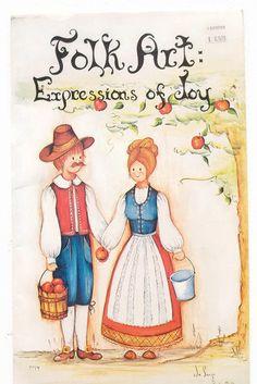 Vintage Tole Painting Book JoSonja Folk Art by VintageCellarDoor
