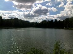 The lake in August.