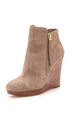MICHAEL Michael Kors Clara Suede Wedge Booties
