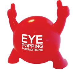 Pop-i This brilliant and bestselling novelty product is designed to bring fun to any promotional campaign. This fun and funky product has an eye-popping effect; simply give him a squeeze and his eyes will pop out! Pop-i is sure to generate interest and excitement from everyone! It's available in a choice of bright colours, with a branding area to the reverse for your logo.