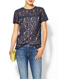 French Connection lace top...perfect for casual Friday's at the office <3 http://rstyle.me/~B3Pt